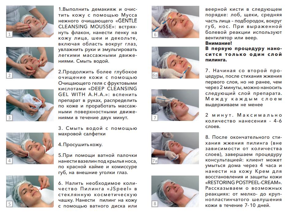 Протоколы выполнения процедуры